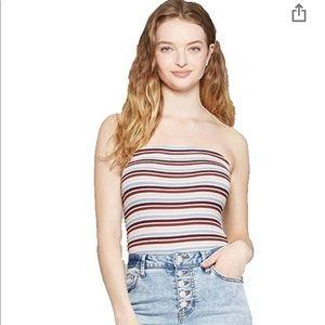 NWT Wild Fable Strapless Bodysuit Pink Stripe 3X